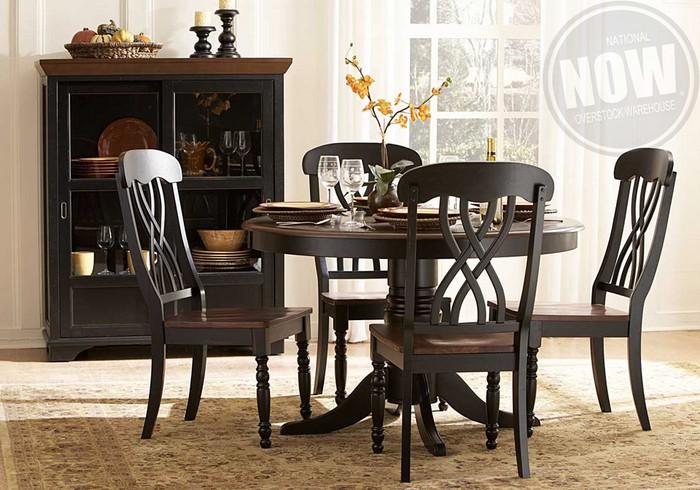 Ohana Black Dining Table And 4 Side Chairs Cincinnati