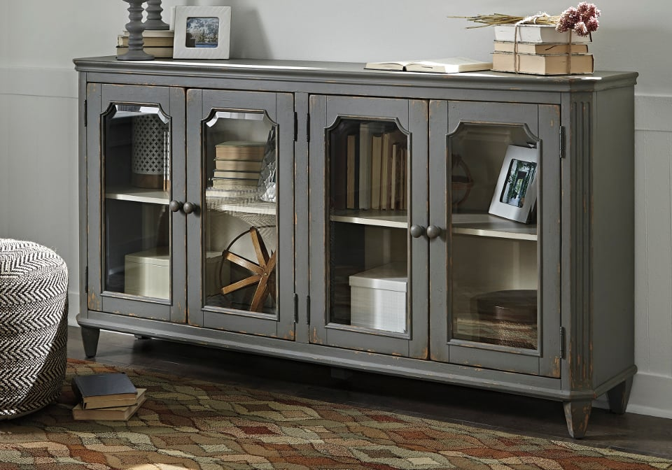 small cabinets for living room mirimyn antique gray door accent cabinet 20416