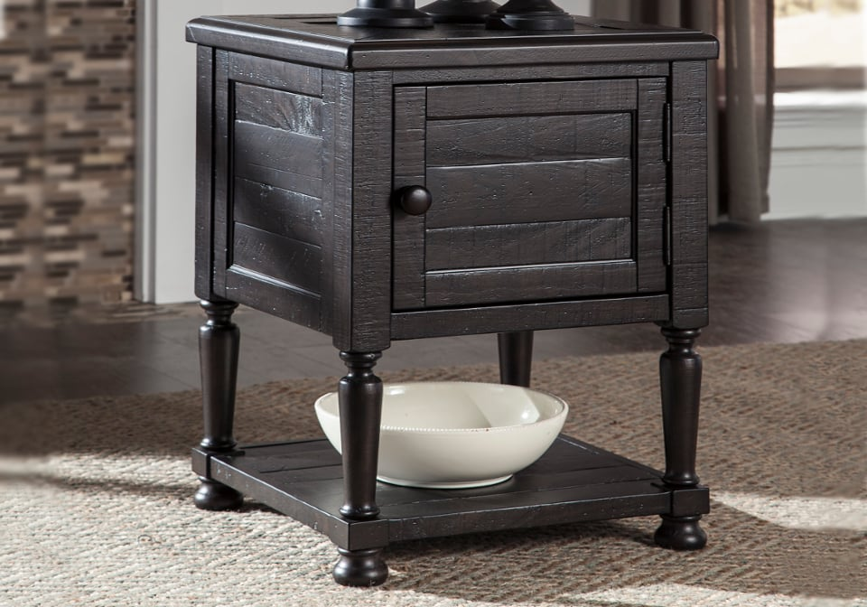 sharlowe charcoal square end table