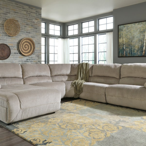 Toletta Granite 6pc Power Reclining Laf Chaise Sectional