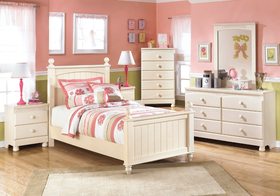 Cottage Retreat Twin Poster Bed Set