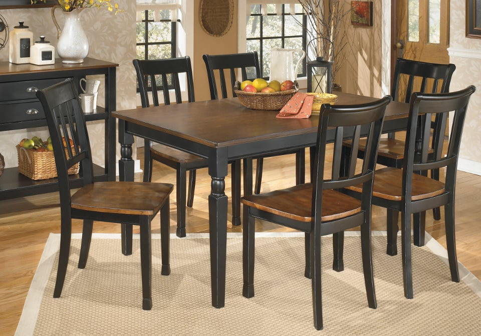 Owingsville Rectangular Dining Set with 6 Chairs : AF D580 Owingsville Rectangular Dining Set with 6 Chairs 1 from cincinnatioverstockwarehouse.com size 960 x 672 jpeg 131kB