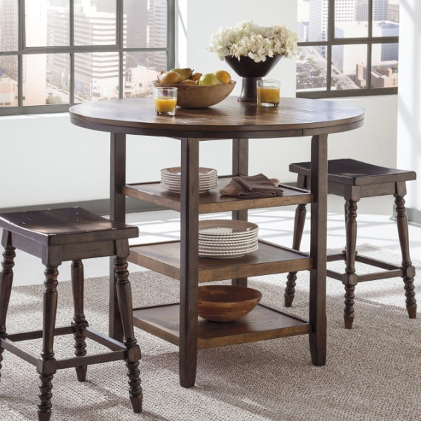 Counter Height Entertainment Center : ... height table home shop dining room tables moriann round counter height