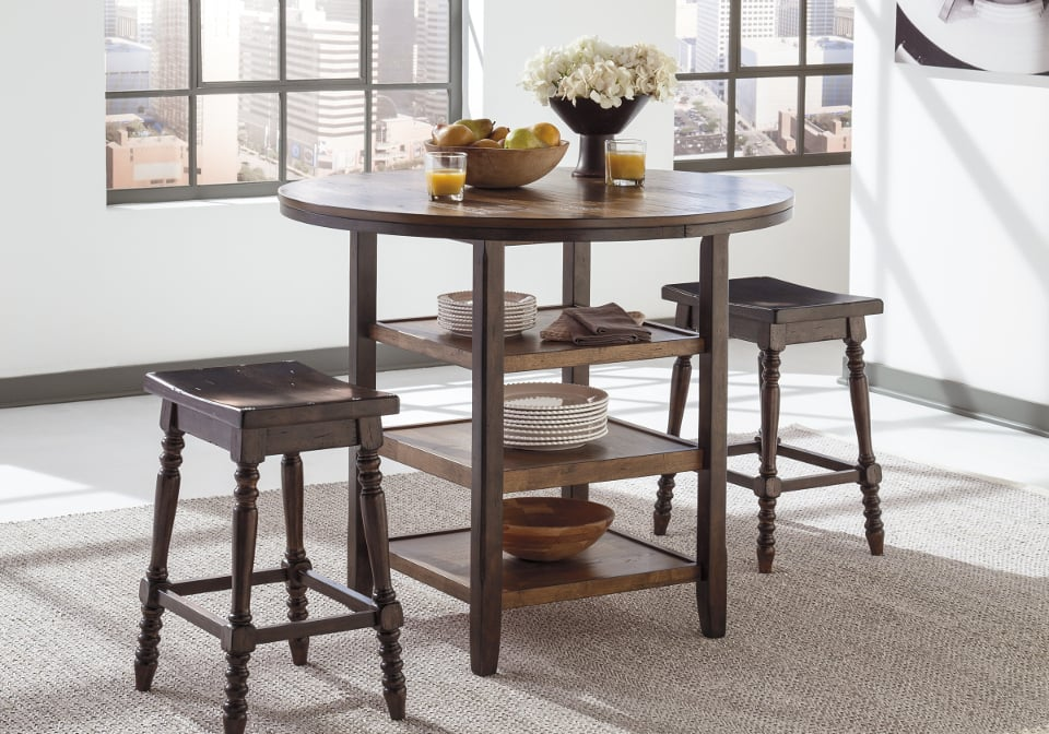 Round Bar Height Dining Room Tables Pin by pam wall on  : AF D608 13 Moriann Round Counter Height Table1 from ubermed.us size 960 x 672 jpeg 122kB