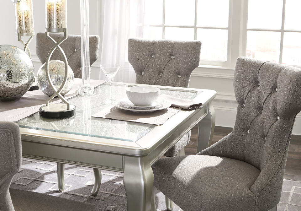 Coralayne dining room extension table for D d dining room table