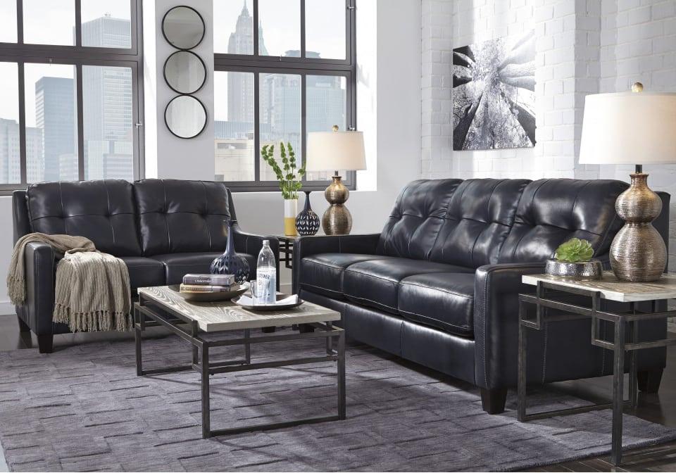 O 39 Kean Navy Sofa Set