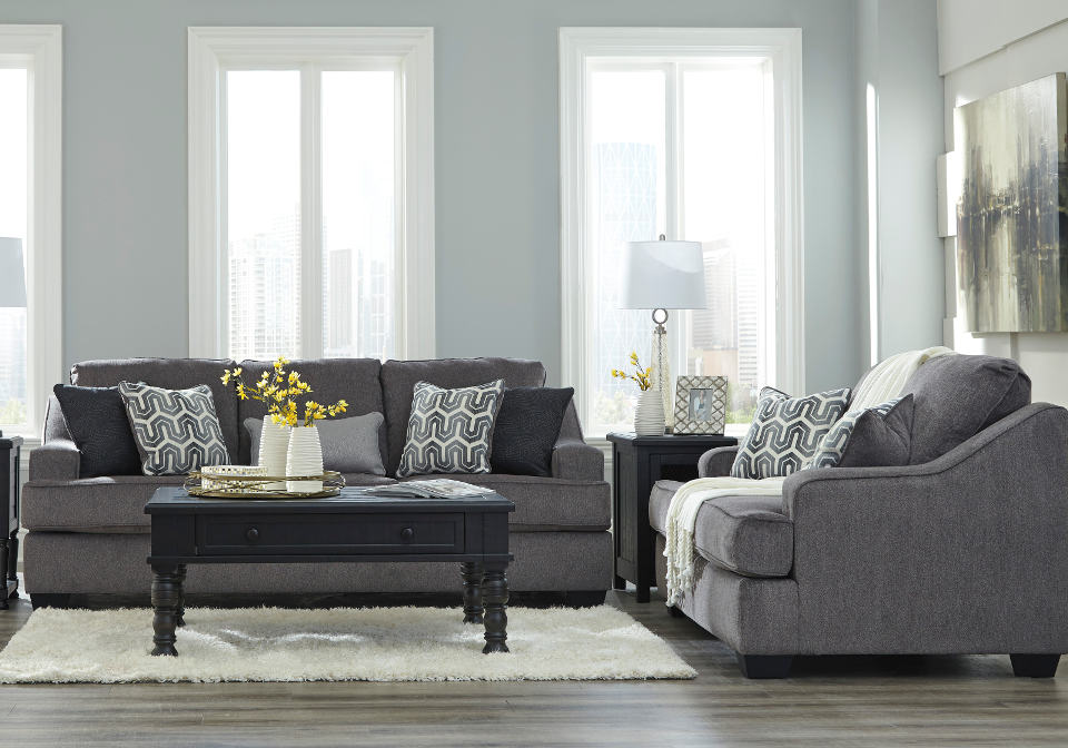 Remarkable Gilmer Gunmetal Sofa Set Pdpeps Interior Chair Design Pdpepsorg