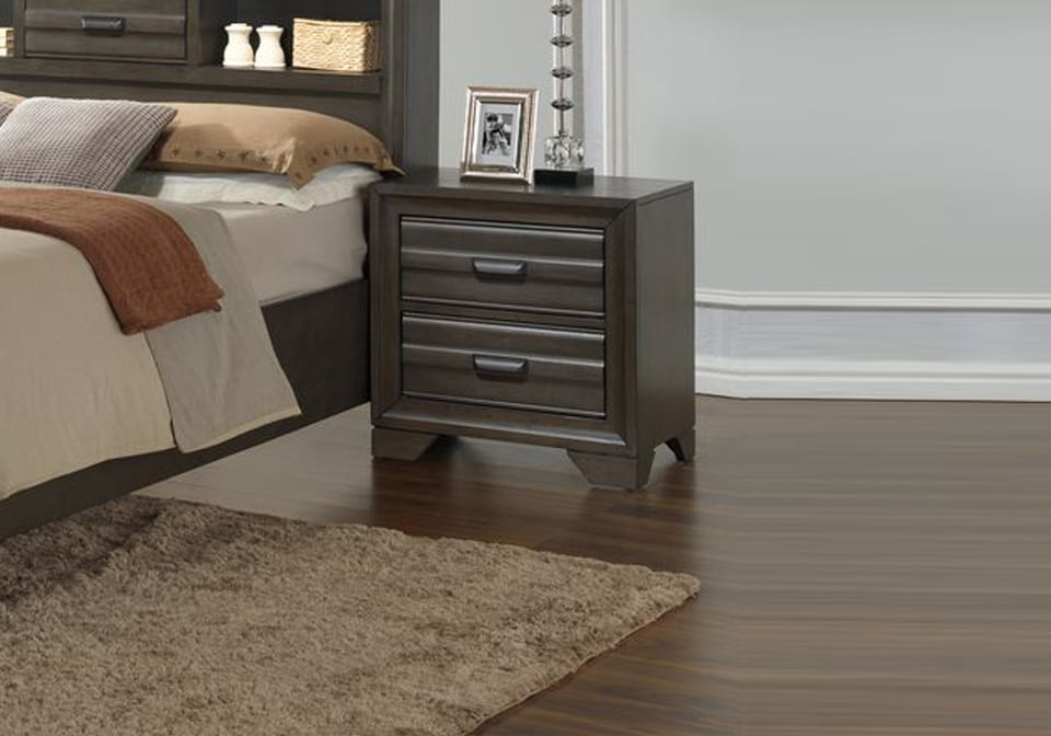 breckenridge queen set 10583 | ls c5236a 020 2dxx breckenridge steel nightstand
