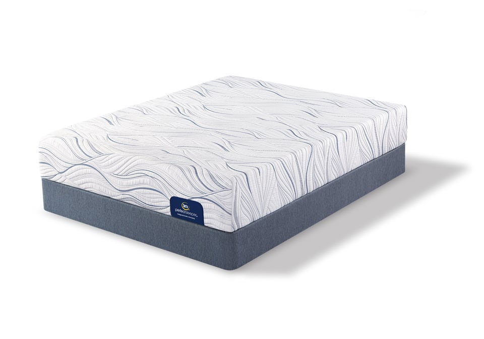 Serta Caledonian Plush Queen Mattress Set