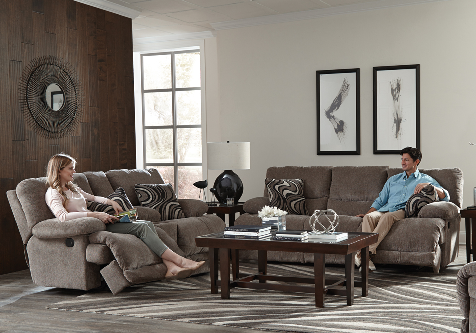 Catnapper Jules Pewter Reclining Sofa Set Cincinnati Overstock