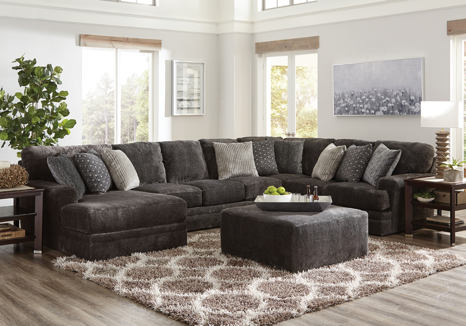 Jackson Mammoth Smoke 3pc Laf Chaise Sectional