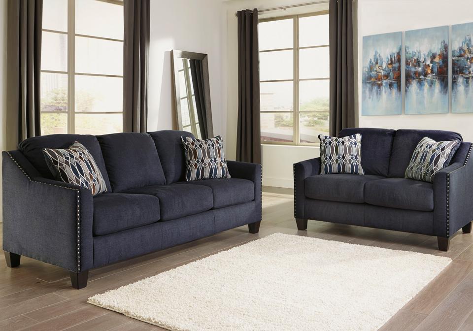 Creeal Heights Ink Sofa Set Cincinnati Overstock Warehouse