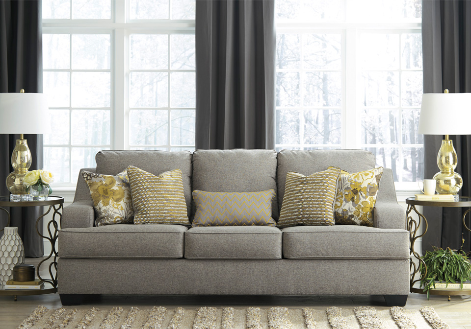 Mandee Pewter Sofa Cincinnati Overstock Warehouse