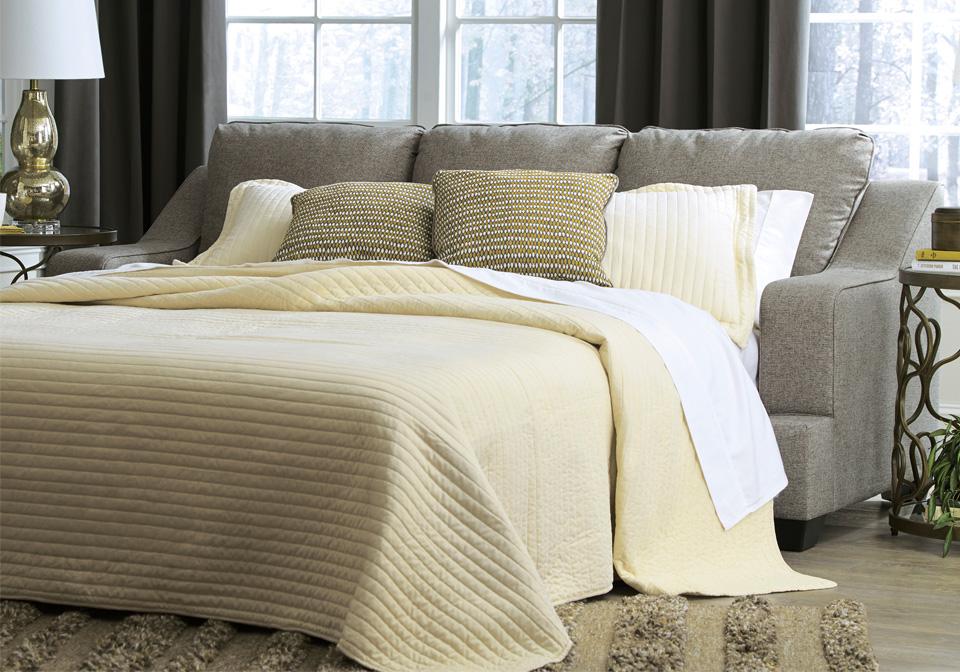 Mandee Pewter Queen Sleeper Sofa | Cincinnati Overstock ...