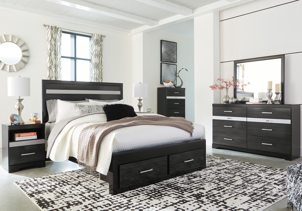Starberry Black King Storage Bedroom Set