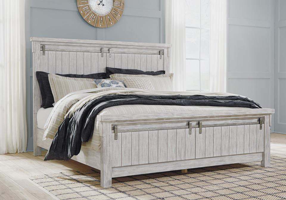 Brashland White Queen Panel Bed Cincinnati Overstock