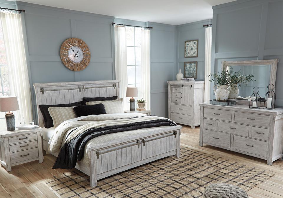 Brashland White King Panel Bed Set