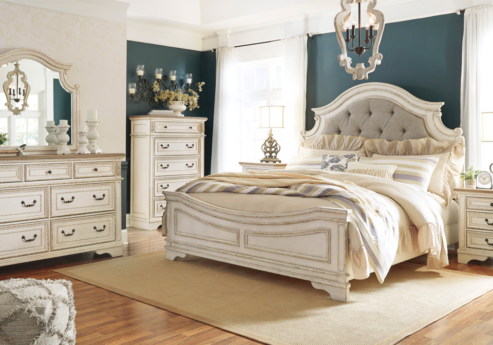 Realyn Two Tone King Panel Bed Set Cincinnati Overstock Warehouse