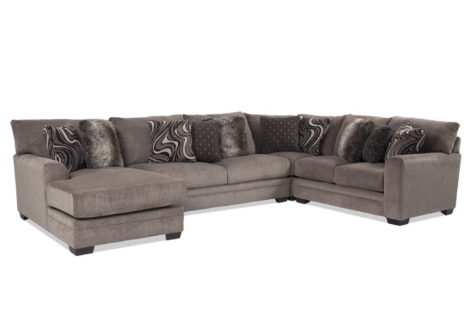 Jackson Luxe Pewter 4Pc LAF Sectional