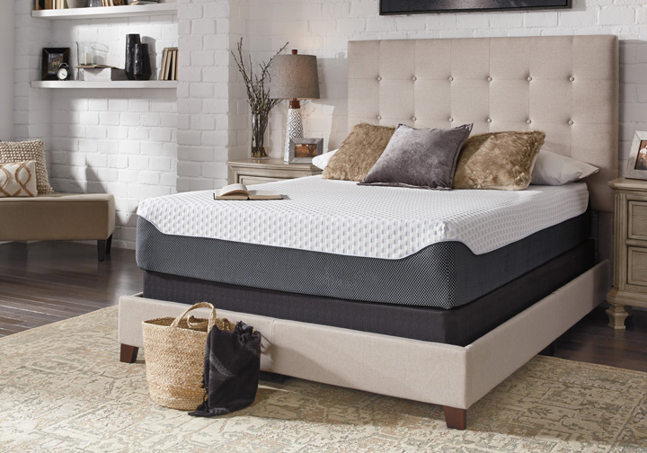 Ashley Sleep 174 Chime Elite 12 Inch Plush Queen Memory Foam Mattress Set Cincinnati Overstock