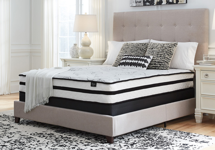 Ashley Sleep 174 Chime Elite 10 Inch Plush Queen Hybrid Mattress Set Cincinnati Overstock Warehouse