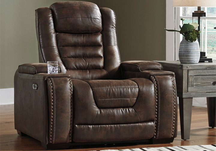 Game Zone Bark Power Recliner W Adjustable Headrest