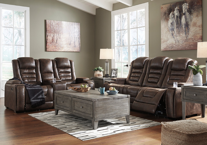 Game Zone Bark Power Reclining Sofa Set W Console