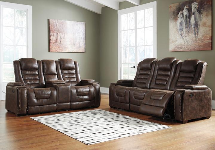 Game Zone Bark Power Reclining Sofa Set W Console