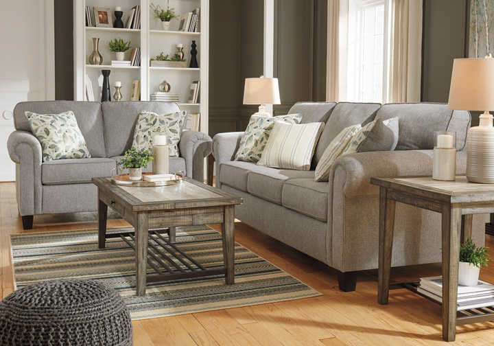 Alandari Gray Sofa Set