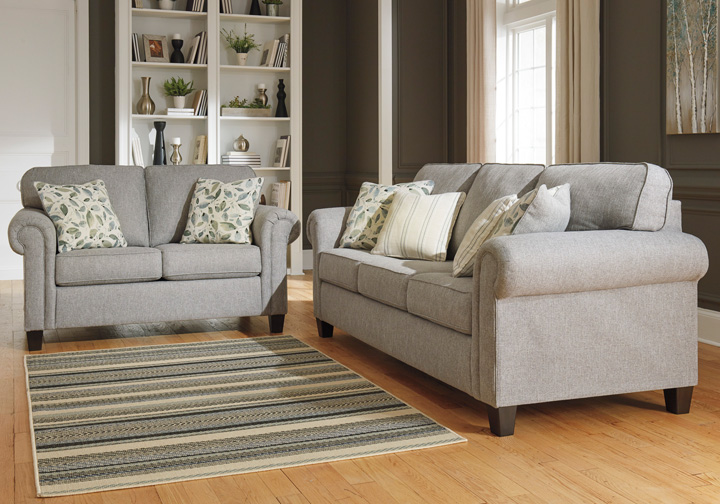 Alandari Gray Sofa Set Cincinnati Overstock Warehouse