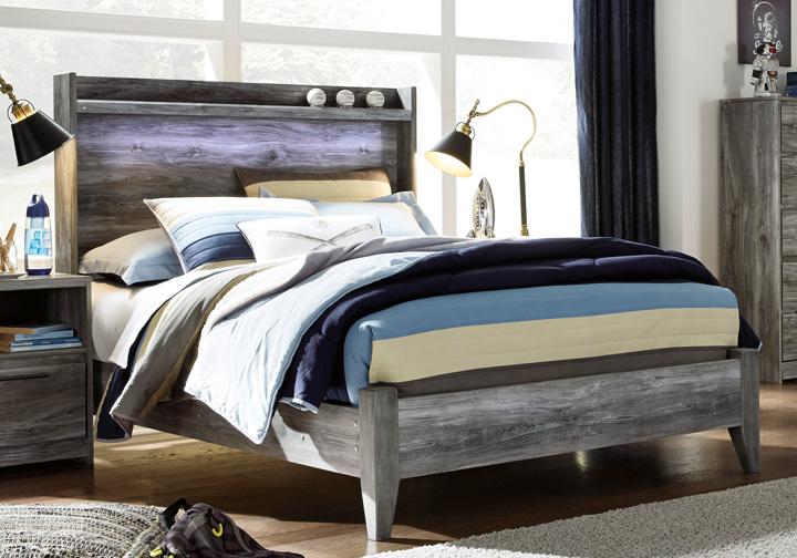 Baystorm Gray Full Panel Bed Cincinnati Overstock Warehouse