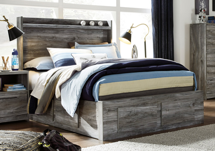 Baystorm Gray Full Panel Storage Bed Cincinnati