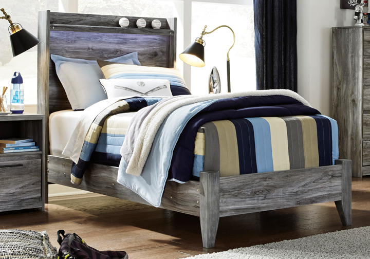 Baystorm Gray Twin Panel Bed Cincinnati Overstock Warehouse
