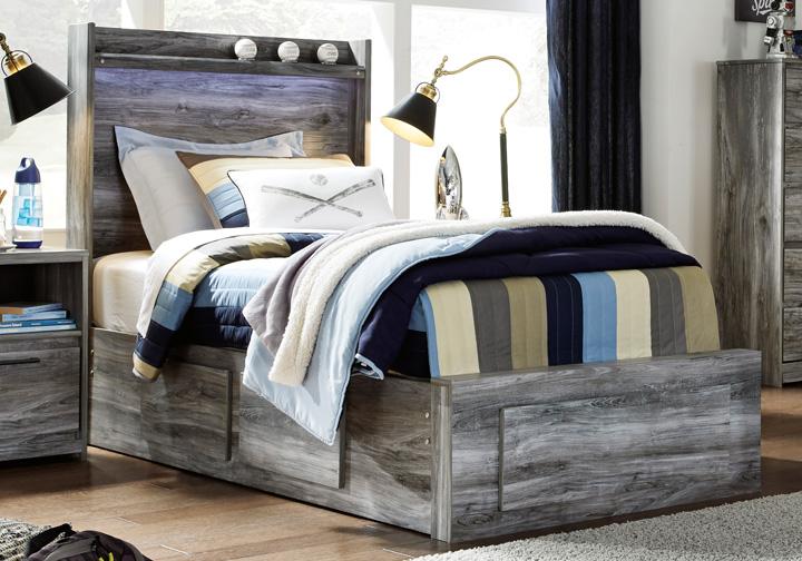 Surprising Baystorm Gray Twin Panel Storage Bed Inzonedesignstudio Interior Chair Design Inzonedesignstudiocom
