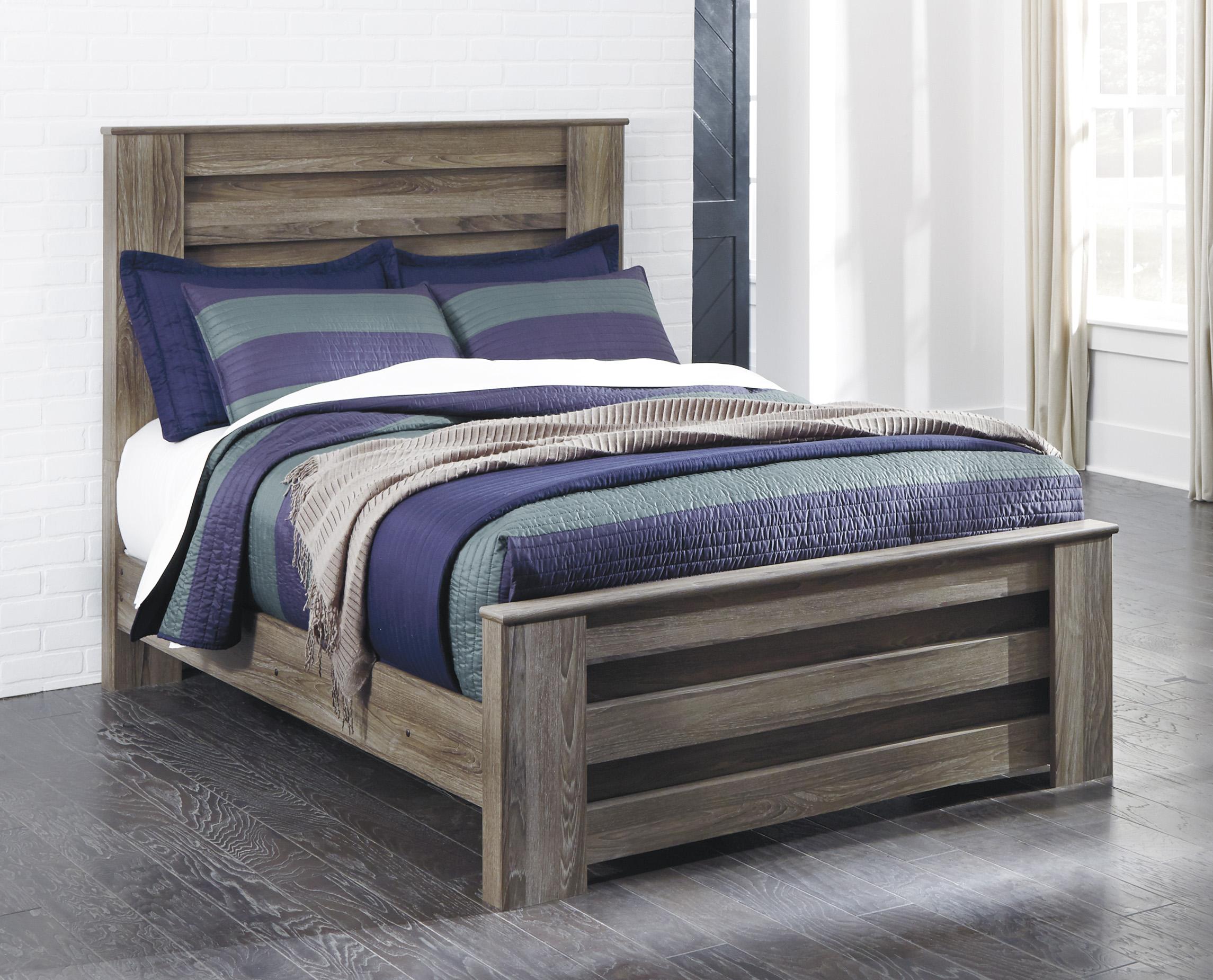 Zelen Warm Gray Full Panel Bed | Cincinnati Overstock ...