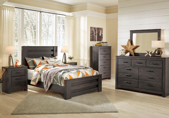 brinxton black full panel bedroom set | cincinnati