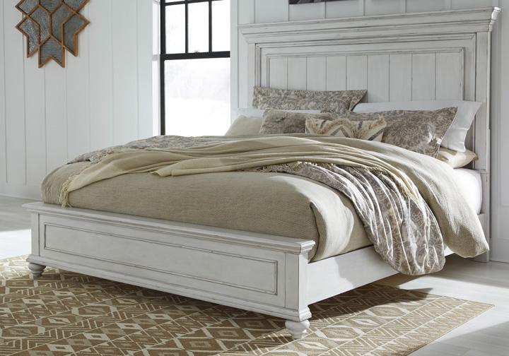 Kanwyn Whitewash Queen Panel Bedroom Set Cincinnati