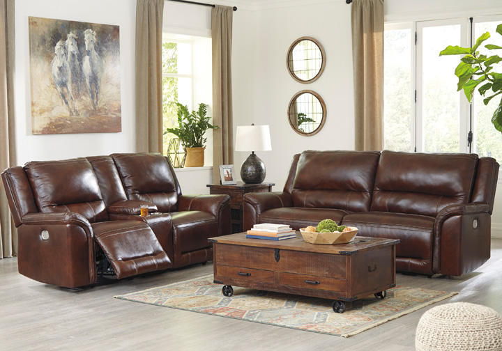 Catanzaro Mahogany Power Reclining Sofa Set Cincinnati Overstock