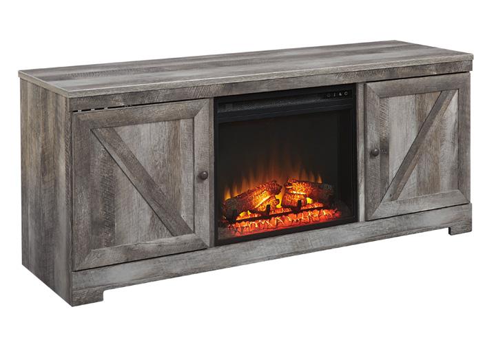 Wynnlow Gray Tv Stand W Fireplace Insert Cincinnati Overstock