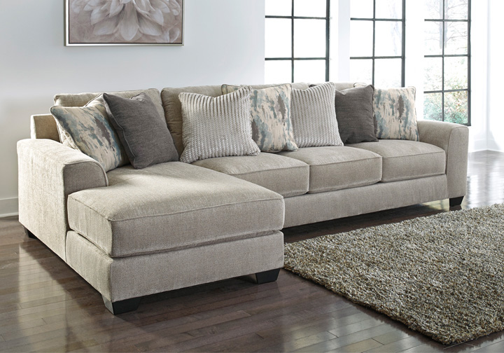 Ardsley Pewter 2pc Laf Chaise Sectional Cincinnati