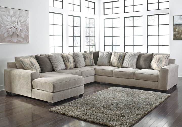 Ardsley Pewter 4pc Laf Chaise Sectional Cincinnati
