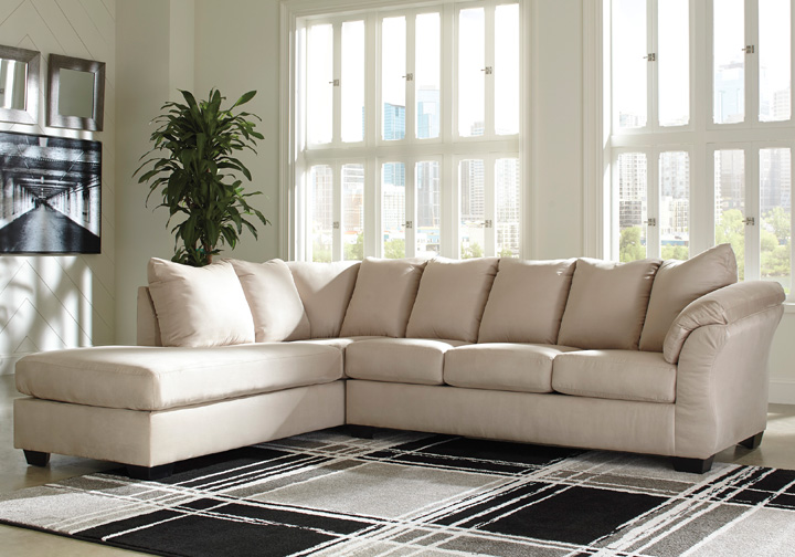 Darcy Stone 2pc Laf Chaise Sectional Cincinnati