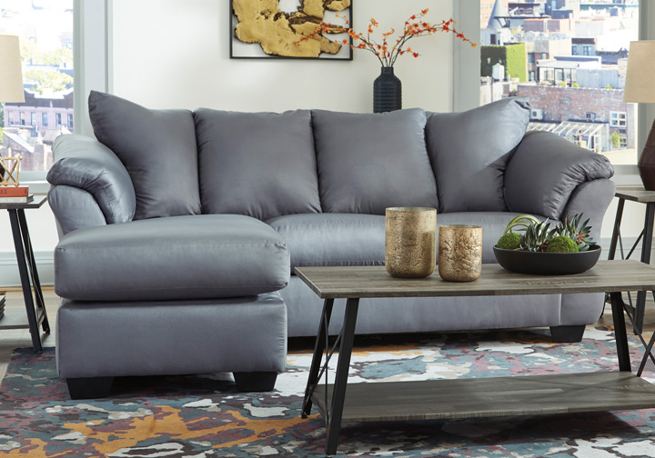 Fine Darcy Steel Sofa Chaise Gmtry Best Dining Table And Chair Ideas Images Gmtryco