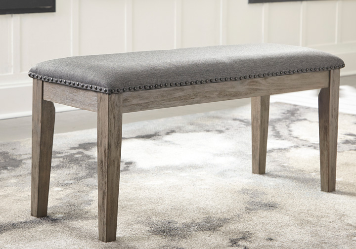 Groovy Aldwin Gray Upholstered Dining Bench Uwap Interior Chair Design Uwaporg
