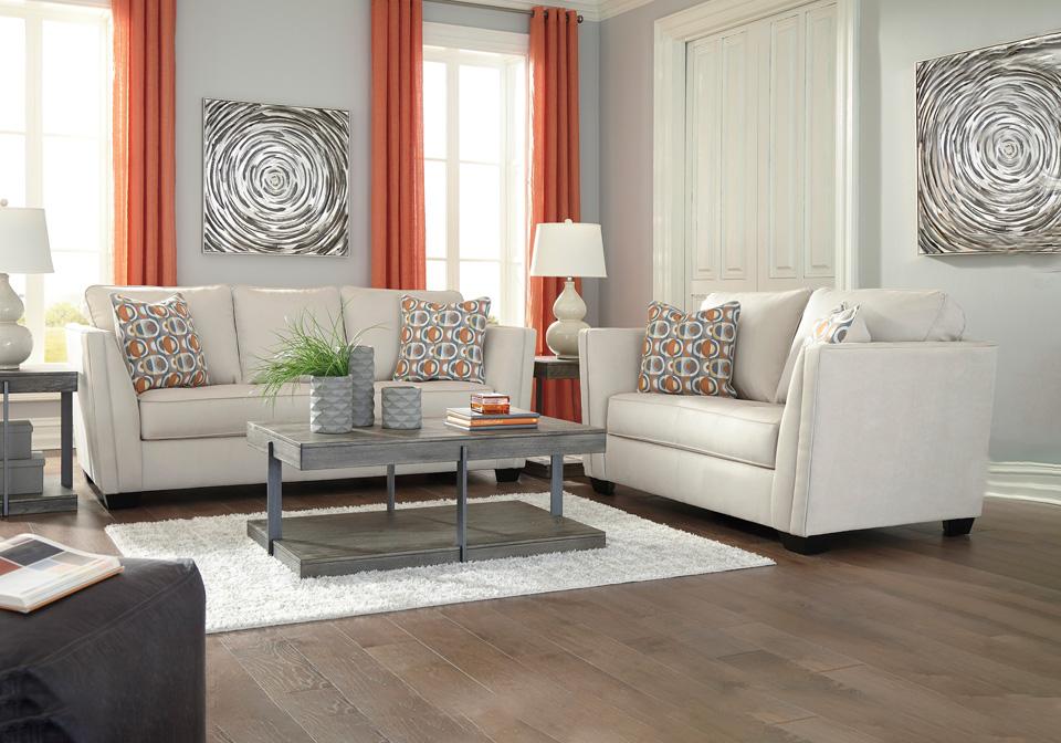 Filone Ivory Sofa Set Cincinnati Overstock Warehouse
