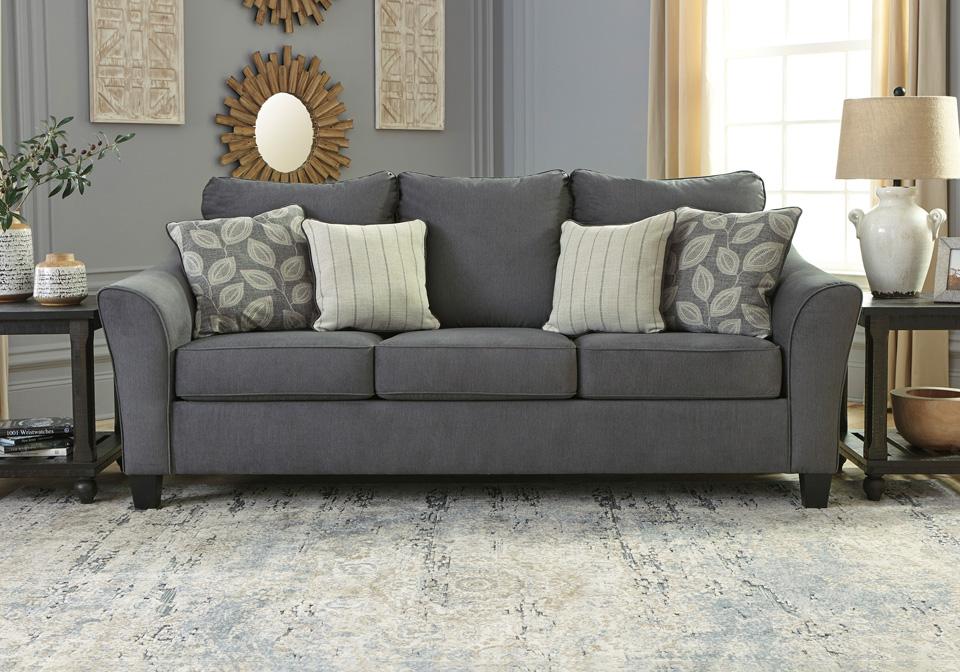 Sanzero Graphite Sofa Cincinnati Overstock Warehouse