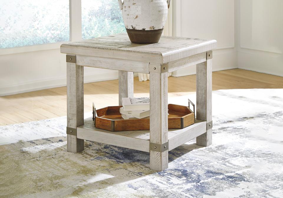 Prime Carynhurst White Wash Gray Rectangular End Table Machost Co Dining Chair Design Ideas Machostcouk