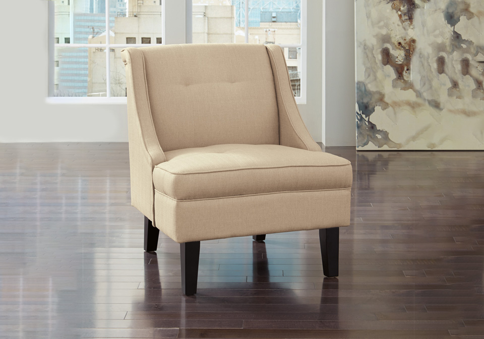 Wondrous Clarinda Cream Accent Chair Pdpeps Interior Chair Design Pdpepsorg