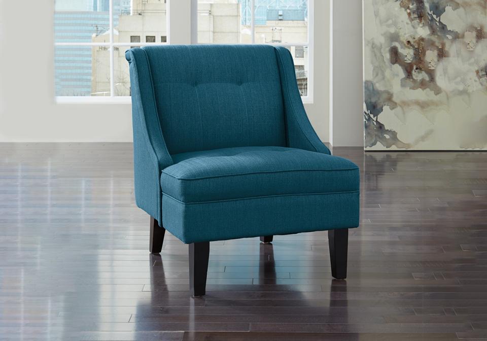 Strange Clarinda Blue Accent Chair Machost Co Dining Chair Design Ideas Machostcouk