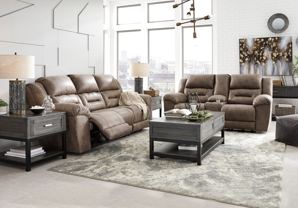 Surprising Stoneland Fossil Power Reclining Sofa Set Camellatalisay Diy Chair Ideas Camellatalisaycom